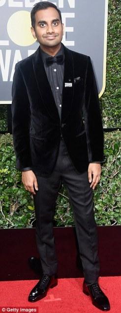 Aziz Ansari in Ermenegildo Zegna Couture