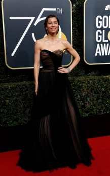 Jessica Biel in Dior Haute Couture.
