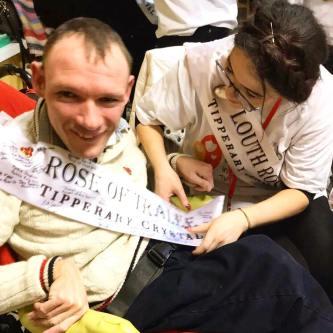 Sasha with Signed ROT Sash + Aoife Louth Rose
